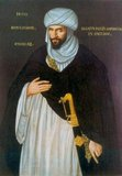 Abd el-Ouahed ben Messaoud ben Mohammed Anoun, Moorish Ambassador to Queen Elizabeth I — This image is a reproduction of an Elizabethan painting of the Moorish Ambassador who visited Queen Elizabeth I of England from Barbary in 1600 to propose an alliance against Spain.